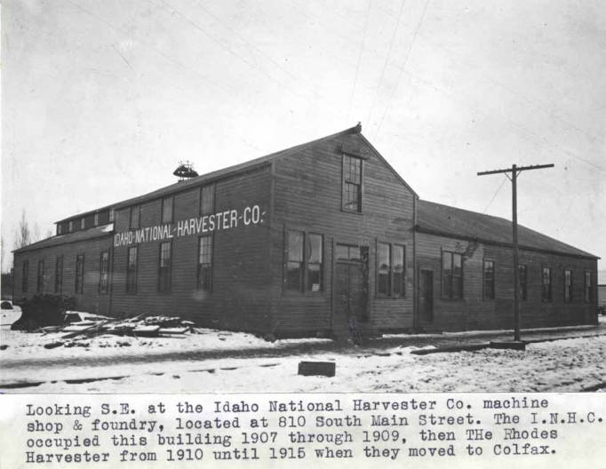 item thumbnail for Looking southeast at the Idaho National Harvester Company machine shop and foundry at 810 South Main Street