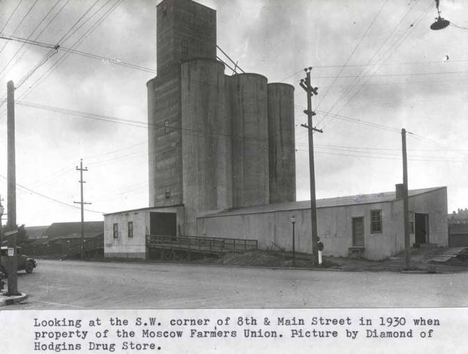 item thumbnail for Looking at the southwest corner of Eighth and Main streets, 1930