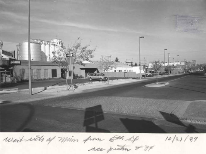 item thumbnail for West side of Main Street from Eighth Street, circa 1987
