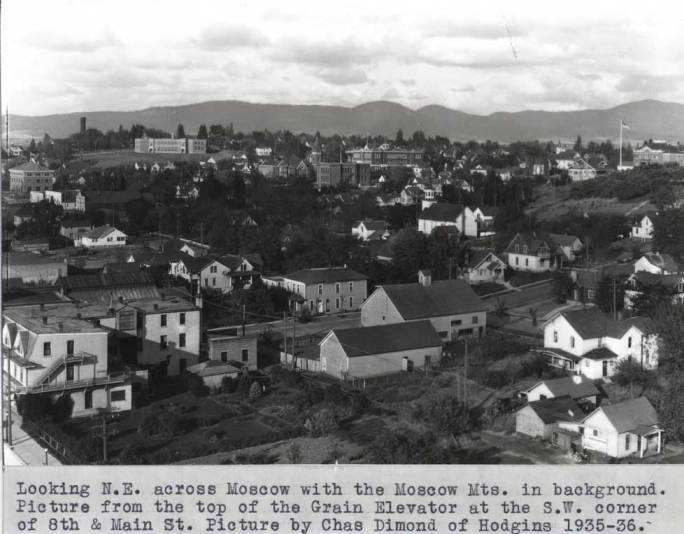 item thumbnail for Looking northeast across Moscow with Moscow Mountain in background [01]