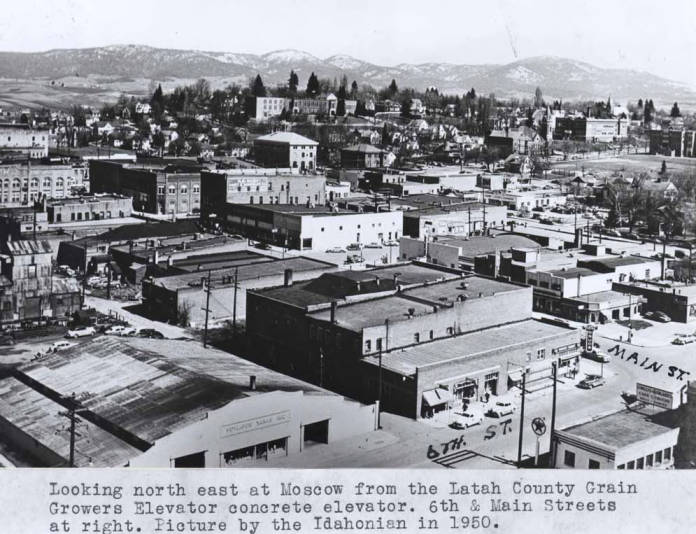 item thumbnail for Looking northeast at Moscow from the Latah County Grain Growers elevator