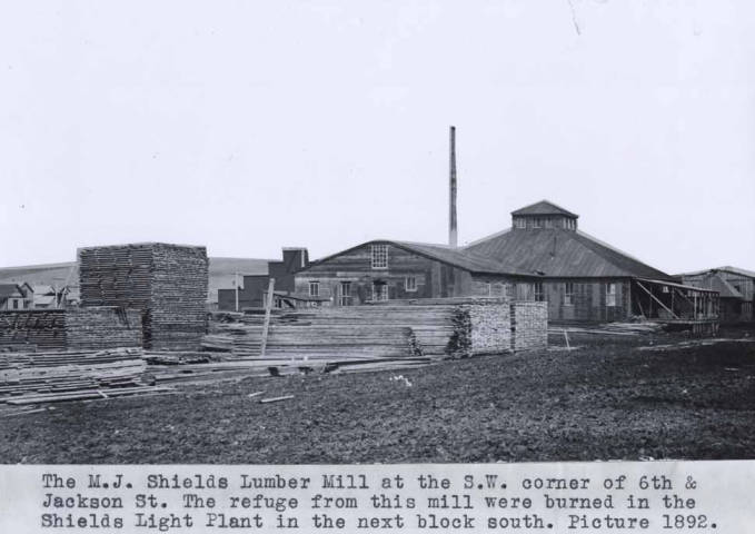 item thumbnail for Michael J. Shields lumber mill in Moscow