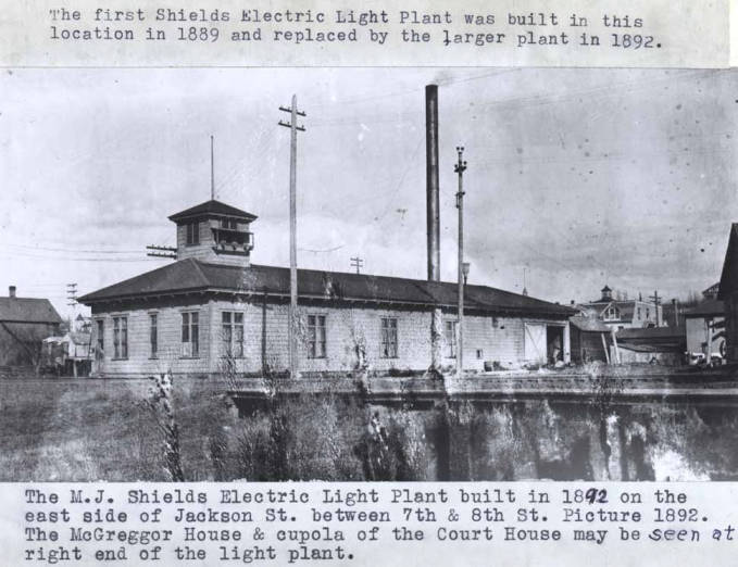 item thumbnail for Michael J. Shields electric light plant in Moscow