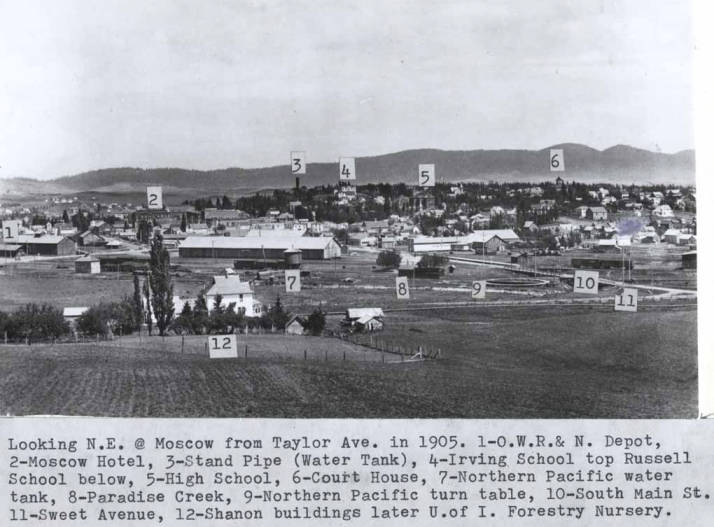 item thumbnail for Looking northeast at Moscow from Taylor Avenue in 1905 [02]