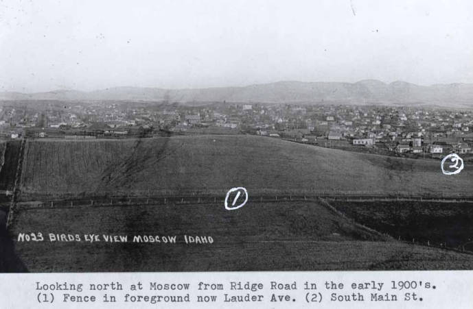item thumbnail for Looking north at Moscow from Ridge Road in the early 1900s
