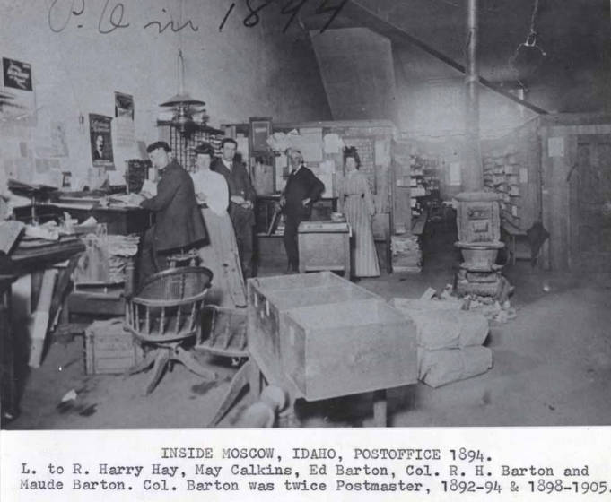item thumbnail for Inside Moscow, Idaho post office, 1894