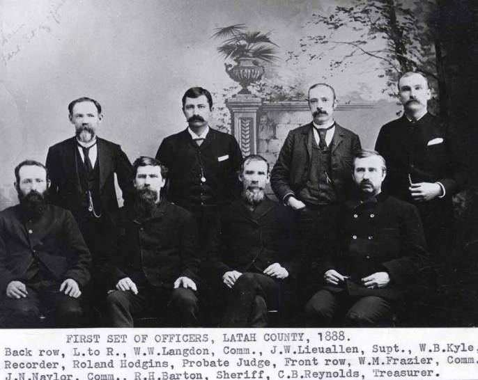 item thumbnail for First set of officers for Latah County, 1888