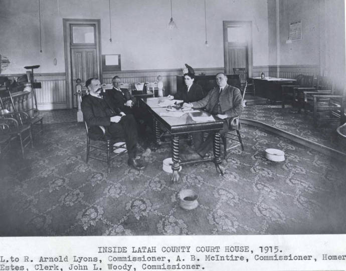 item thumbnail for Inside Latah County Courthouse, 1915