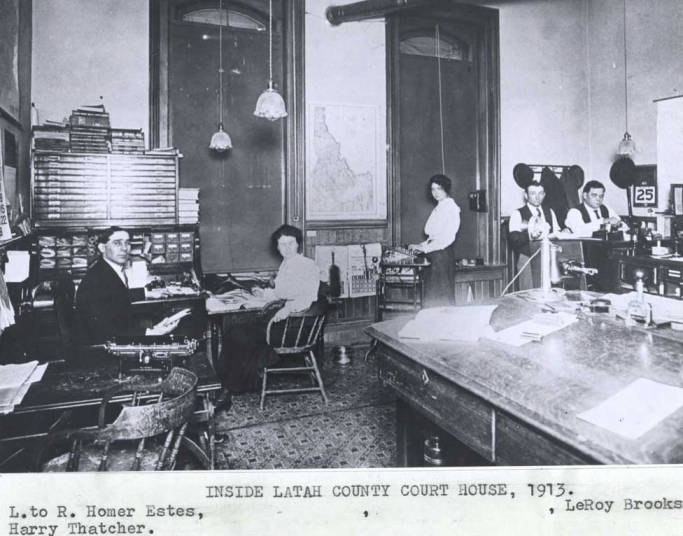 item thumbnail for Inside Latah County Courthouse, 1913