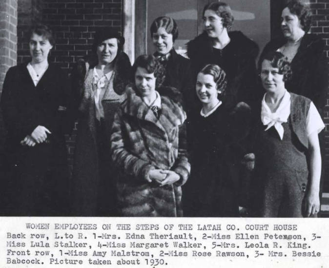 item thumbnail for Women employees of Latah County
