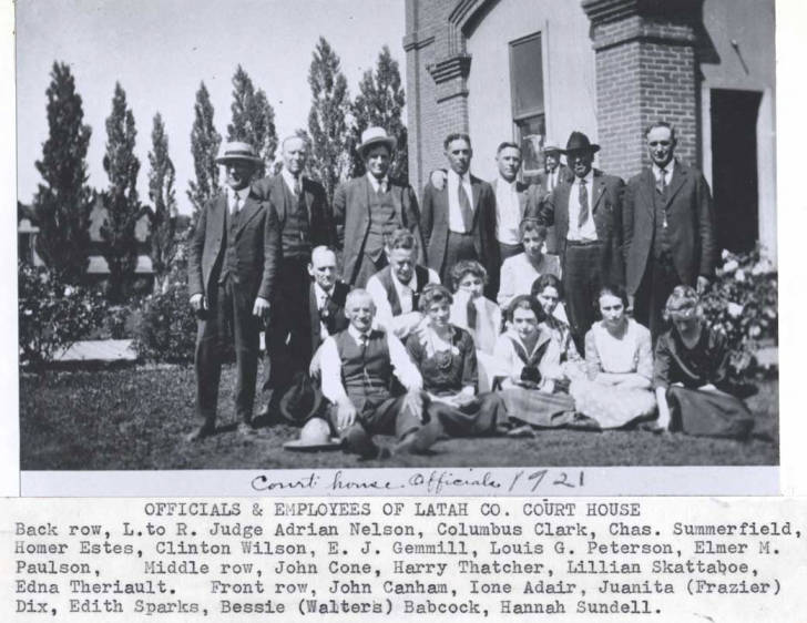 item thumbnail for Officials and employees of Latah County Courthouse, circa 1921