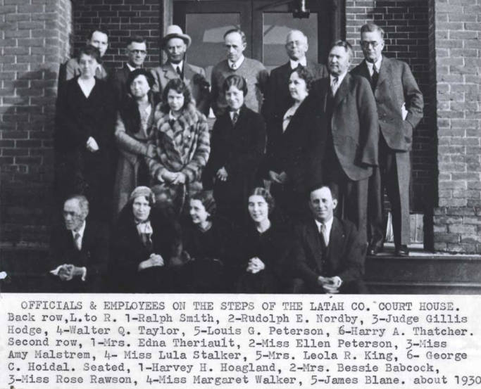 item thumbnail for Officials and employees of Latah County Courthouse, circa 1930