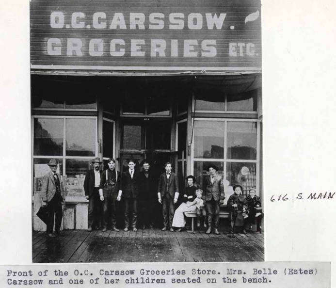 item thumbnail for Front of the O.C. Carssow grocery store at 616 South Main Street