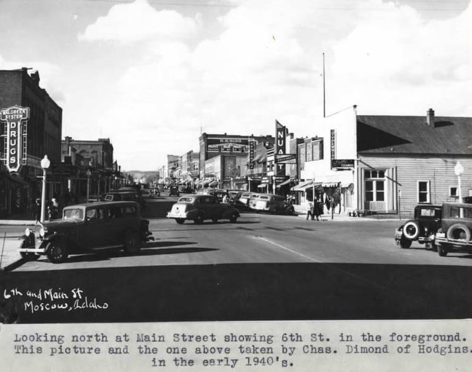 item thumbnail for Looking north at Main Street, circa 1940
