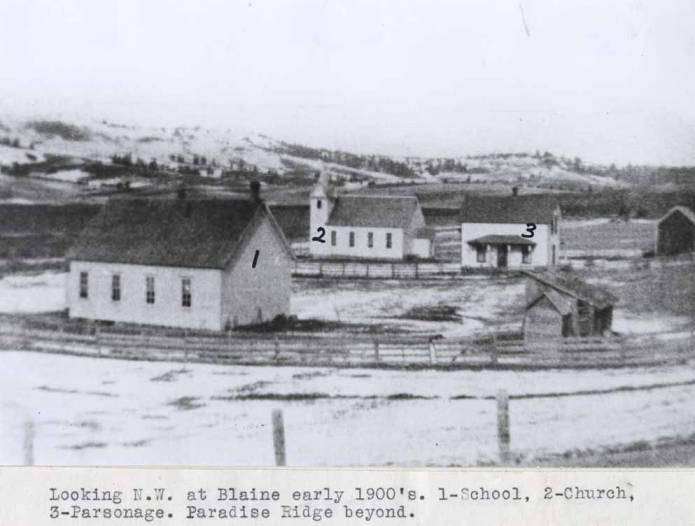 item thumbnail for Looking northeast at Blaine early 1900s