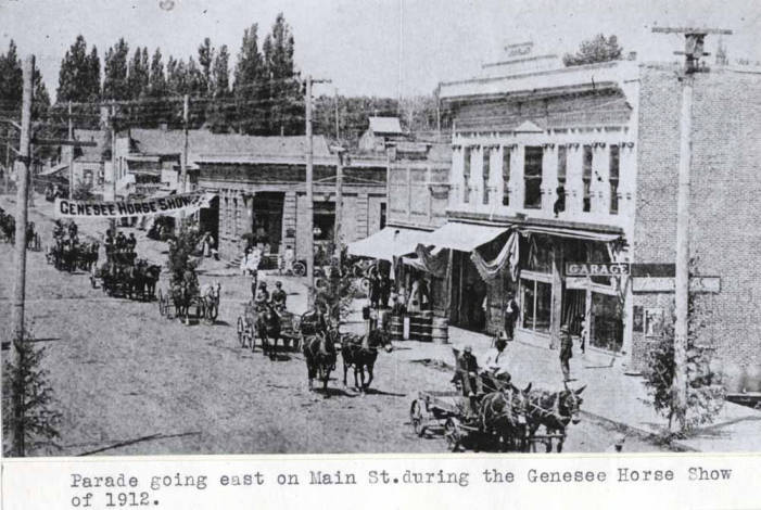 item thumbnail for Parade going east on Main Street in Genesee [02]