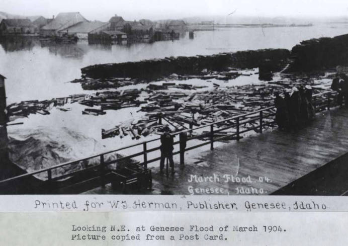 item thumbnail for Looking northeast at Genesee flood of March 1904