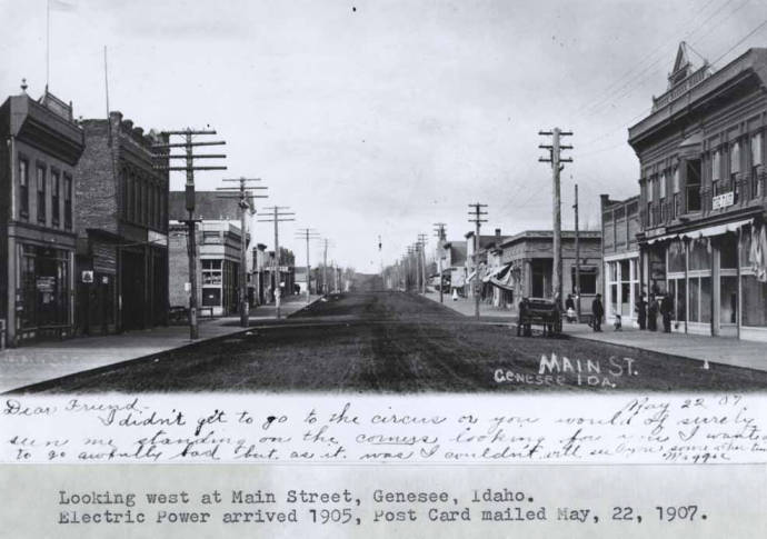 item thumbnail for Looking west at Main Street in Genesee [02]