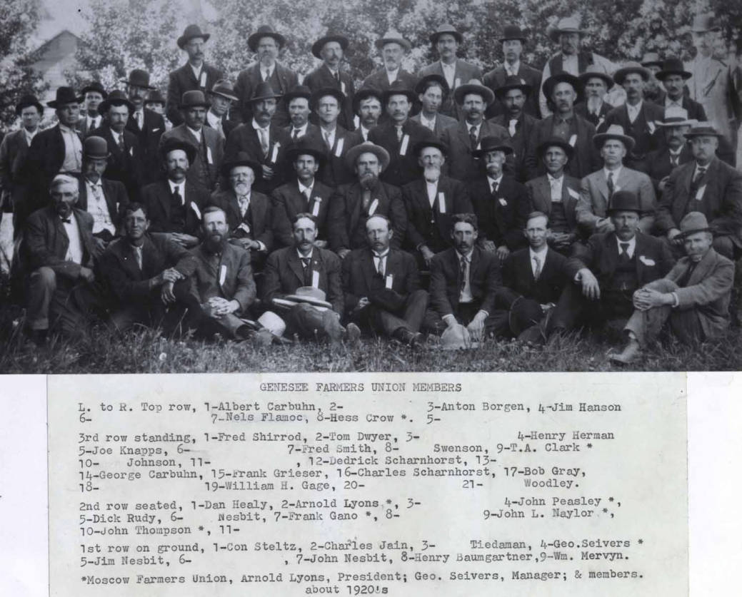 item thumbnail for Genesee Farmers Union Members, with names in photograph