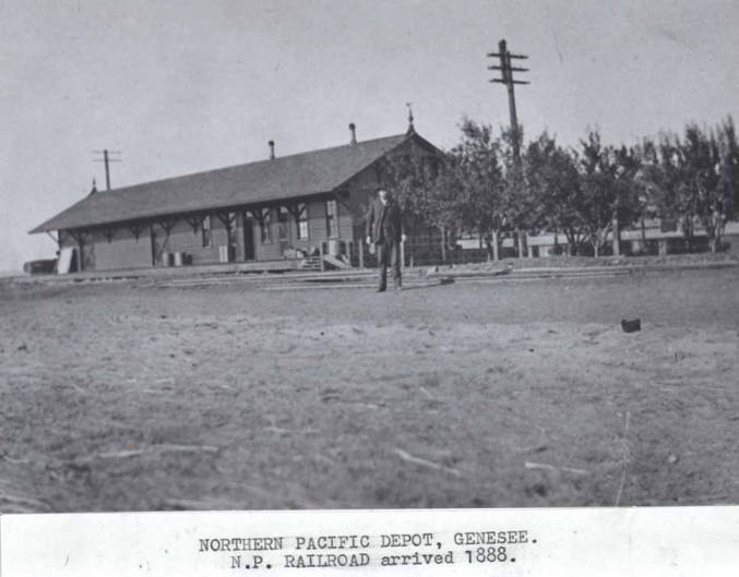 item thumbnail for Northern Pacific Railroad depot in Genesee