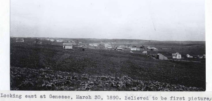 item thumbnail for Looking east at Genesee