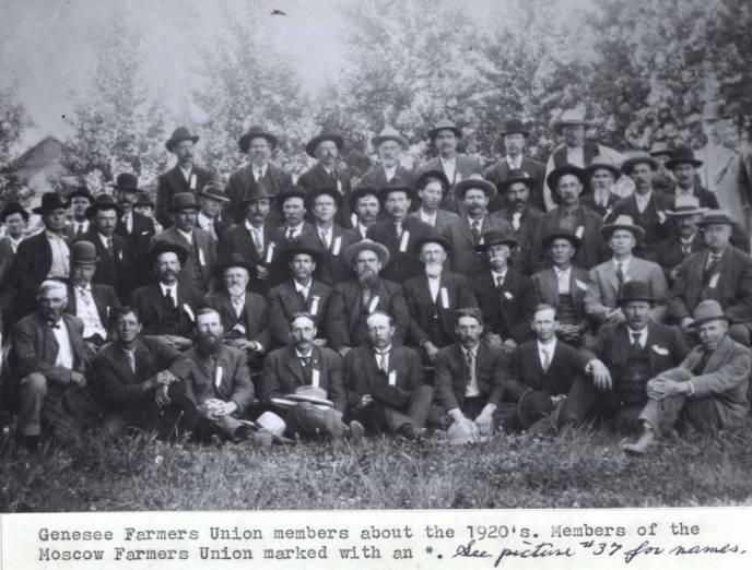 item thumbnail for Genesee Farmers Union Members, circa 1920