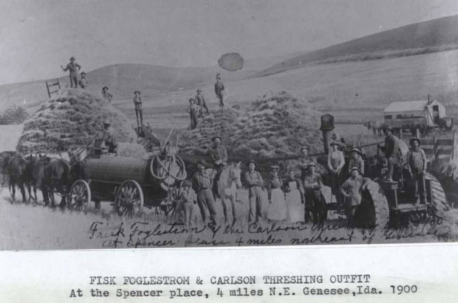 item thumbnail for Fisk Foglestrom and Carlson threshing outfit