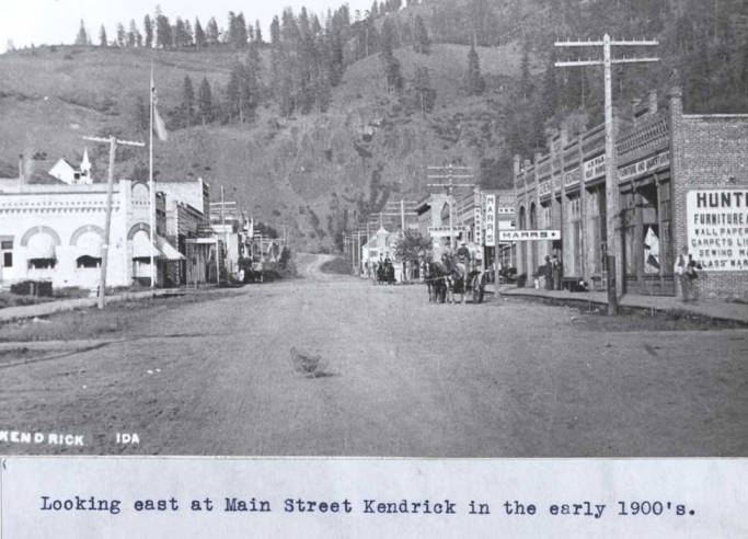 item thumbnail for Looking east at Main Street in Kendrick [01]
