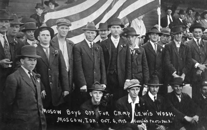 item thumbnail for Archie Hawley, first man seated at left in photograph
