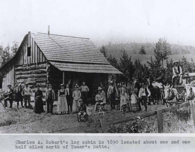 item thumbnail for Charles A. Hobart's log cabin