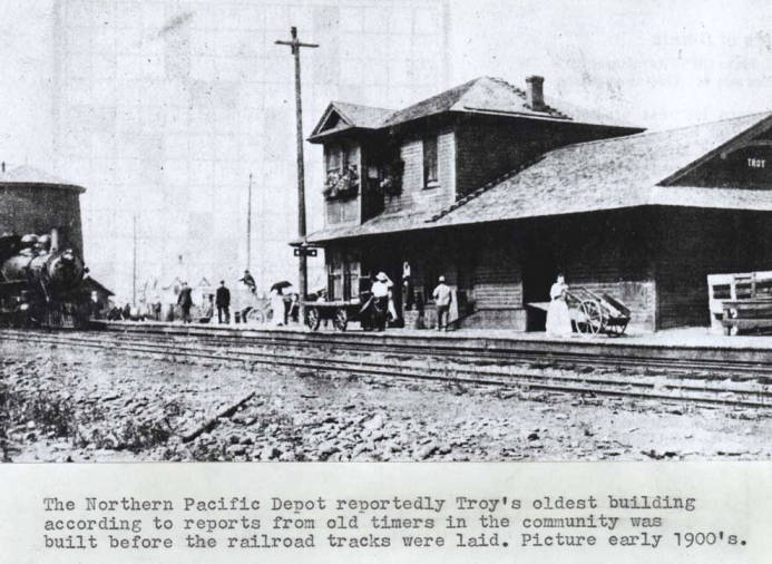 item thumbnail for Northern Pacific [Railroad] depot. Troy.