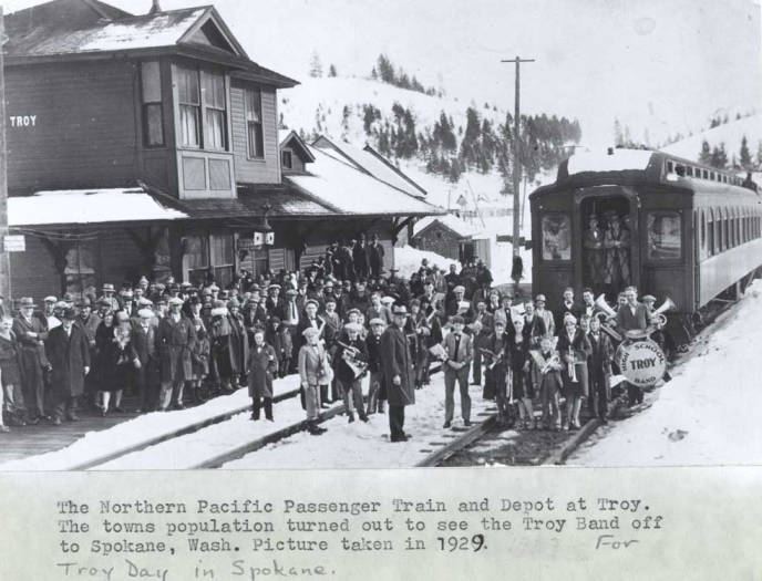 item thumbnail for Northern Pacific Railroad depot inTroy