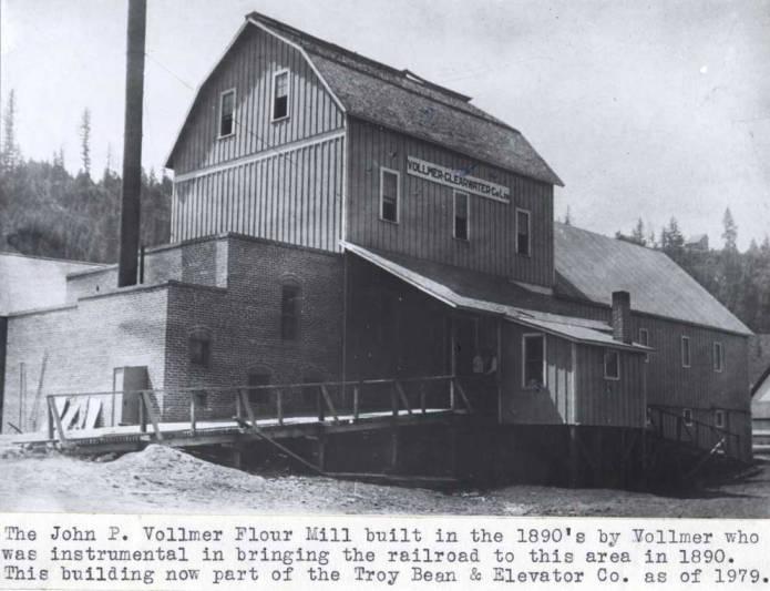 item thumbnail for John P. Vollmer flour mill in Troy