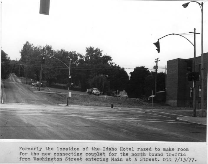 item thumbnail for Formerly the location of the Idaho Hotel