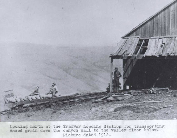 item thumbnail for Looking north at the tramway loading station