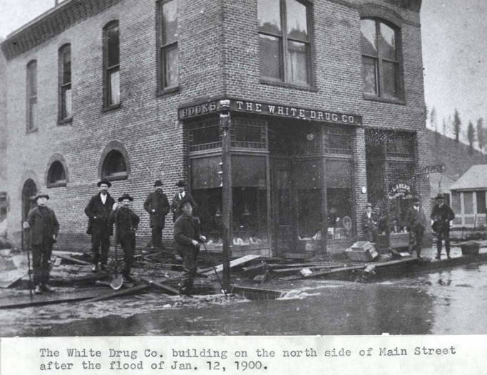 item thumbnail for White Drug Company building on the north side of Main Street in Kendrick