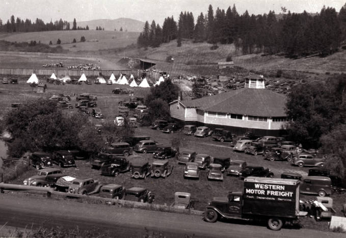 item thumbnail for Looking northeast at the Kennedy Ford dance hall in Potlatch
