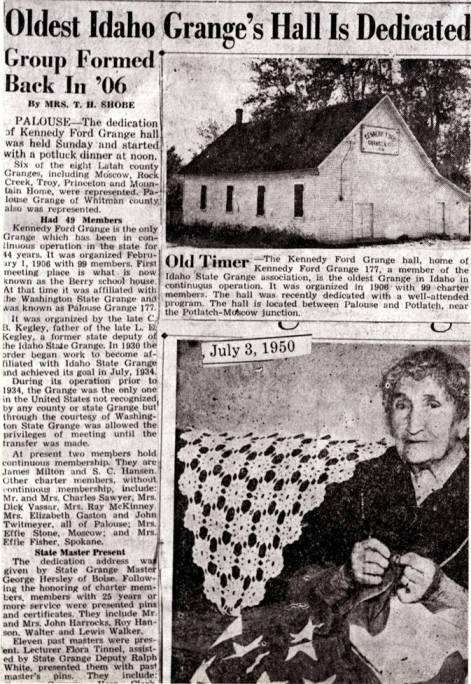 item thumbnail for Kennedy Ford Grange hall article