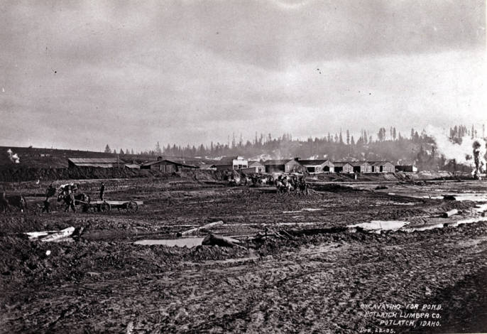 item thumbnail for Excavating for the Potlatch Lumber Company mill pond
