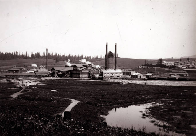 item thumbnail for Looking northeast at Potlatch Lumber Company mill