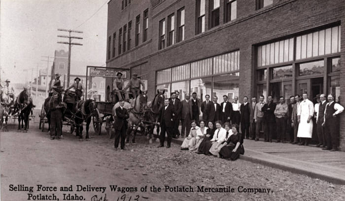 item thumbnail for Selling force and delivery wagons in Potlatch