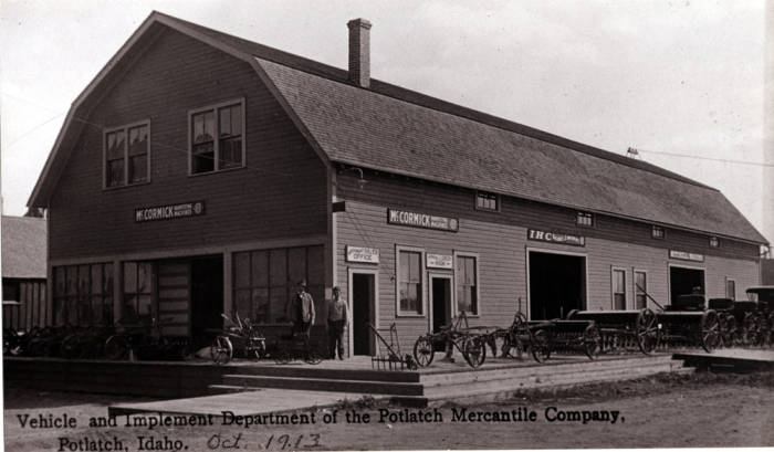 item thumbnail for Potlatch Mercantile Company vehicle and implement department