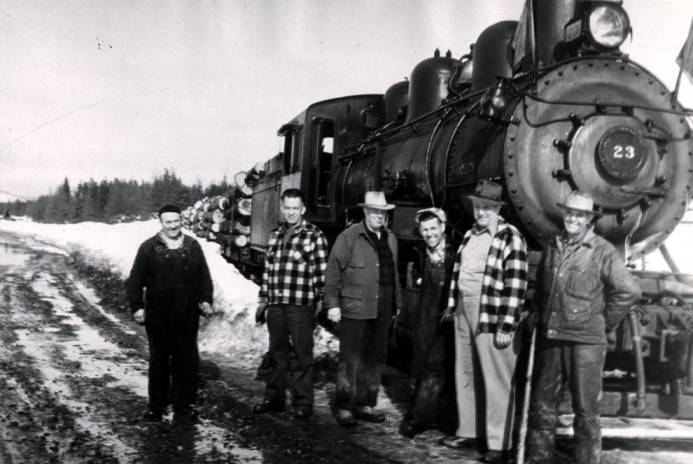 item thumbnail for W.I.&M [Washington, Idaho & Montana Railway] engine number 23 and its crew