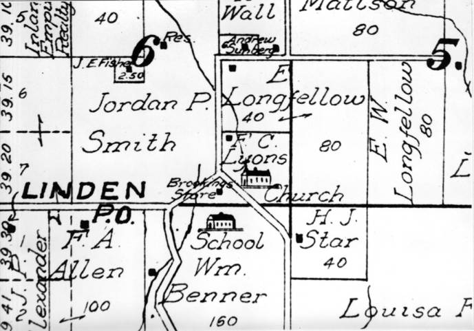 item thumbnail for Photo of map section of Linden