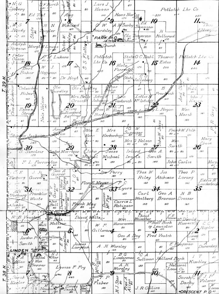 item thumbnail for Photo of map section of Linden/Gold Hill