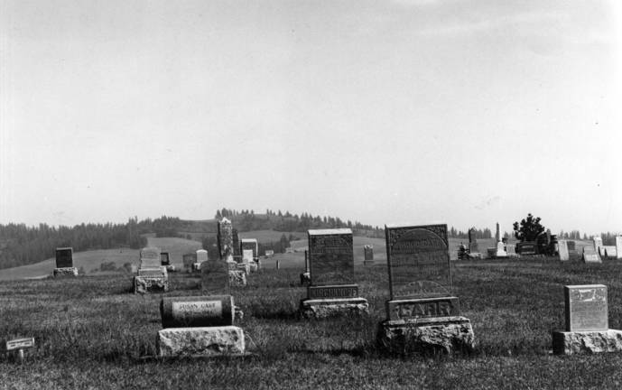 item thumbnail for Looking east across the Gold Hill Cemetery