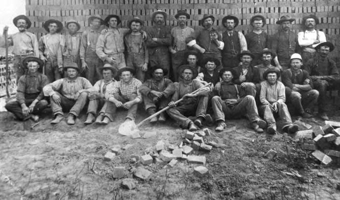 item thumbnail for Crew of Taylor & Lauder brick plant in the late 1880s or 1890s