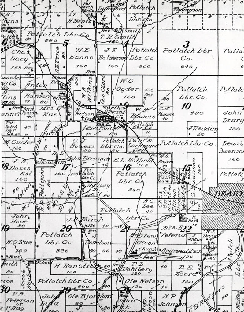 item thumbnail for Old Avon from 1914 Latah County Atlas
