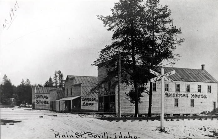 item thumbnail for Looking east at the south side of Main Street in Bovill [02]