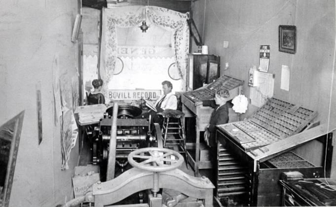item thumbnail for Bovill Record printing shop